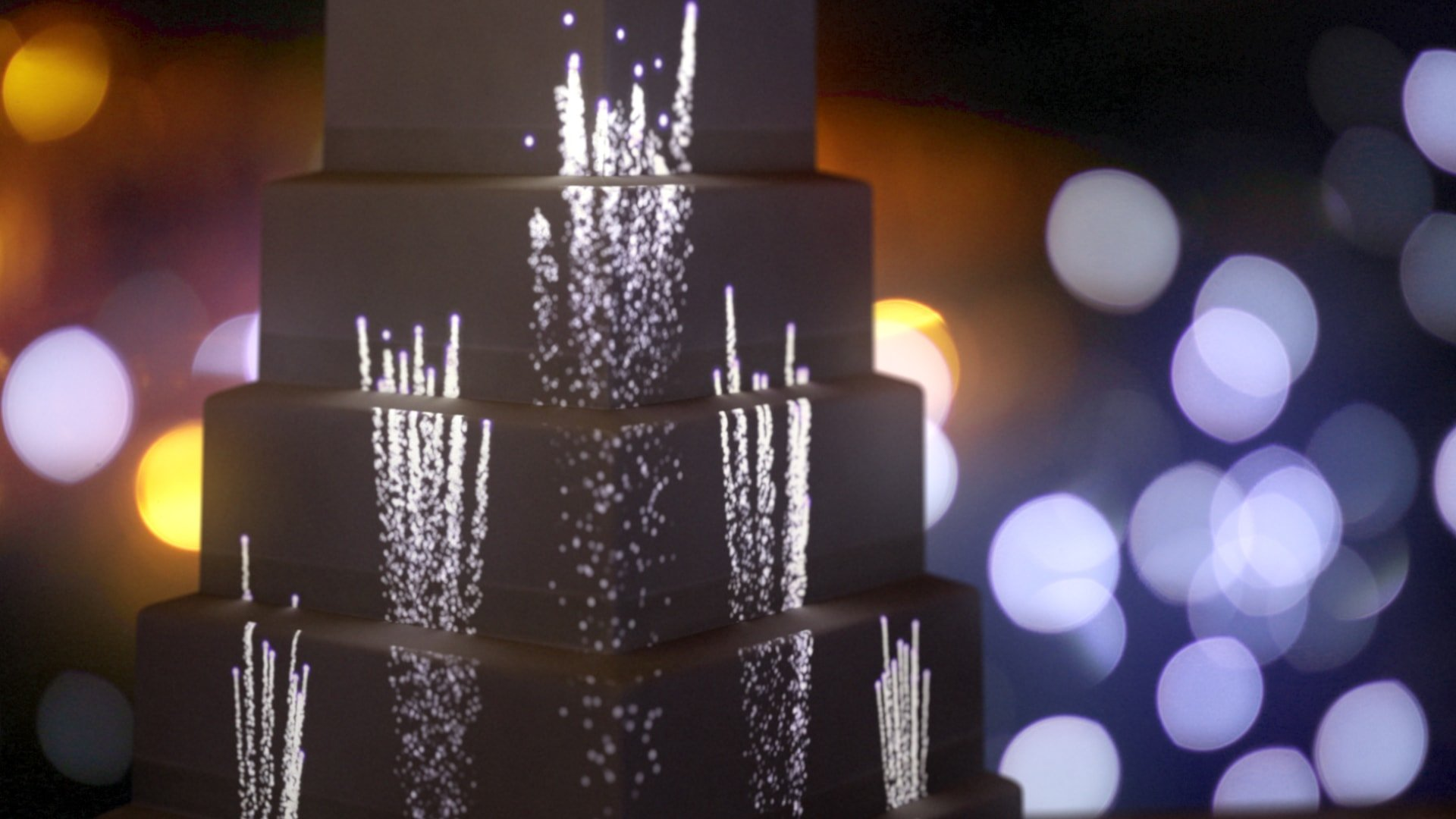 Product ID: 919 purple fountain fireworks cake projection mapping animation video content