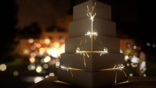 Product ID: 918 sparkler chain reaction fireworks cake projection mapping animation video content
