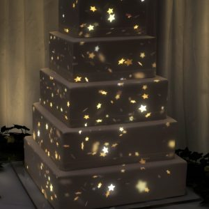 Product ID: 1177 falling gold stars cake projection mapping animation video content